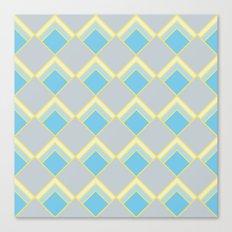 Diamond Art Deco; - Blue Canvas Print
