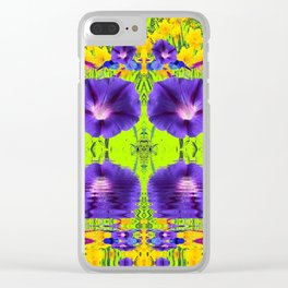 GOLDEN DAFFODILS MORNING GLORIES REFLECTION Clear iPhone Case