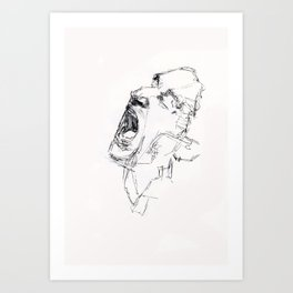 Bono Scream Art Print