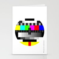tv Stationery Cards featuring TV by Les Hameçons Cibles