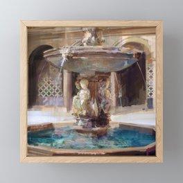 Cupid's Fountain Framed Mini Art Print
