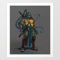 leonardo Art Prints featuring Leonardo by Teratophile