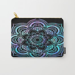 Galaxy Space Mandala Black Pink Lavender Aqua Carry-All Pouch