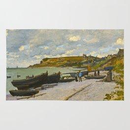 Claude Monet Impressionist Landscape Oil Painting Sainte-Adresse Rug