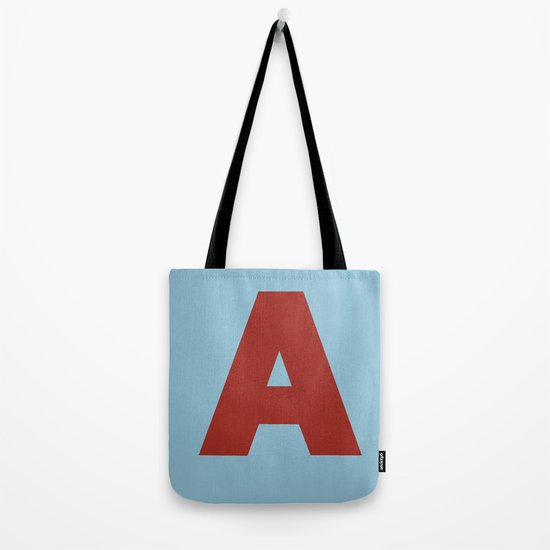 Red A Tote Bag
