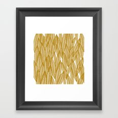 Golden Yellow Leaves Framed Art Print