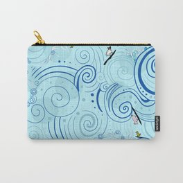surfing farm animals Carry-All Pouch