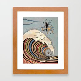 Ride your own wave Framed Art Print