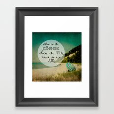 Swim the Sea Framed Art Print