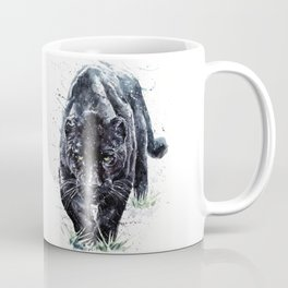 Panther watercolor painting predator animals puma Coffee Mug