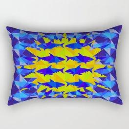 Blue Shark Sun Rectangular Pillow