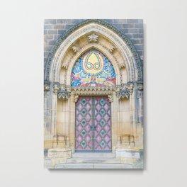 church door in Prague Metal Print