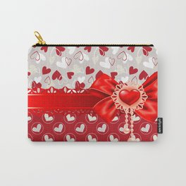 Hearts Valentines Carry-All Pouch