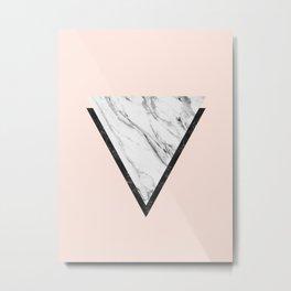 Geometric and minimalist marble VI Metal Print