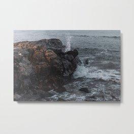 Crashing Waves - Marginal Way, Ogunquit, Maine Metal Print