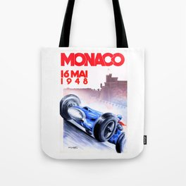 1948 Monaco Grand Prix Race Poster  Tote Bag