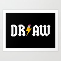 acdc Art Prints featuring DR/AW by Byway