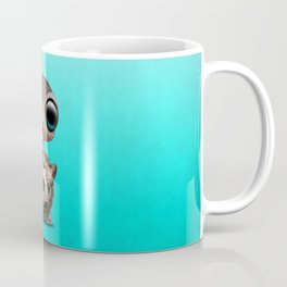 Cute Baby Turtle With Football Soccer Ball Coffee Mug
