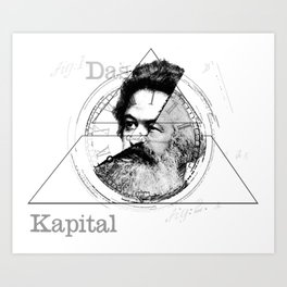 The Time of Marx Art Print