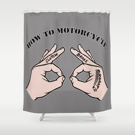 How To Motorcycle Shower Curtain