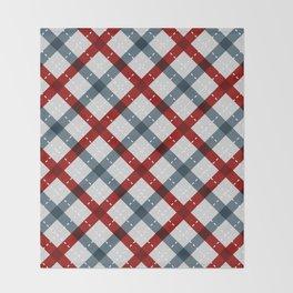 Colorful Geometric Strips Pattern - Kitchen Napkin Style Throw Blanket