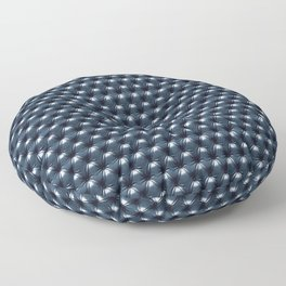 Faux Midnight Leather Buttoned Floor Pillow