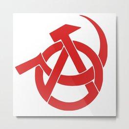 Anarcho-Communist Red Metal Print