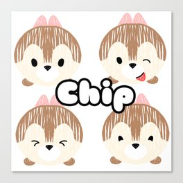 Chip Tsum Tsum Canvas Print