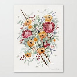 Fall Protea Bouquet Canvas Print
