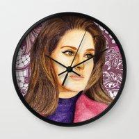 ultraviolence Wall Clocks featuring LANA II by Share_Shop