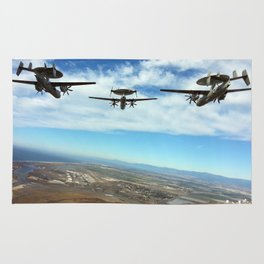 Hawkeyes Fly Over Rug