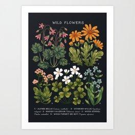 Wild Flowers ~ vol3. ~ dark Art Print
