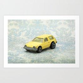 Yellow Hot Wheels Packin' Pacer 1977 Art Print