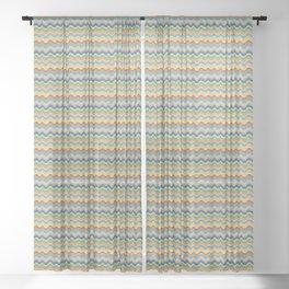 Retro Wave Sheer Curtain