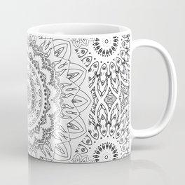 MOONCHILD MANDALA BLACK AND WHITE Coffee Mug