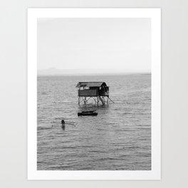 Sea Hut Art Print