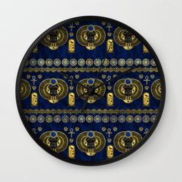 Egyptian  Scarab Ornament Pattern Wall Clock