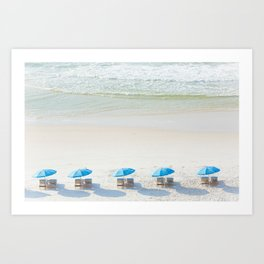 Mornings at the Beach Art Print