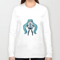vocaloid Long Sleeve T-shirts featuring Digital Song by Nozubozu