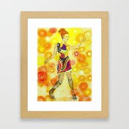 Psychedelic Dancer  Framed Art Print