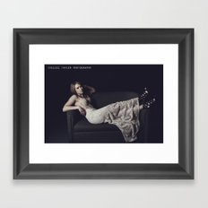 DON'T BE SCARED, BE WANTED. Framed Art Print