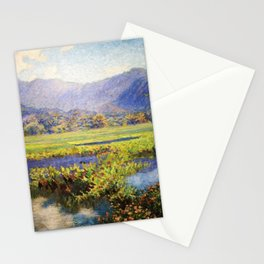 Manoa, Hawaiian landscape painting by Anna Woodward Stationery Cards