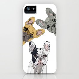 Triple Frenchies iPhone Case