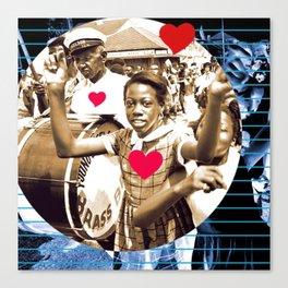 Second Line Love Canvas Print