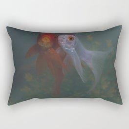 Two Goldfish Rectangular Pillow