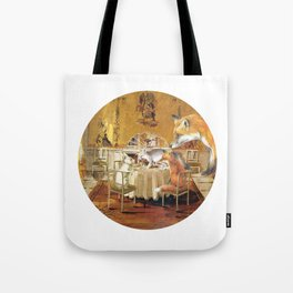 Tiny as a soul, there comes the rabbit Tote Bag