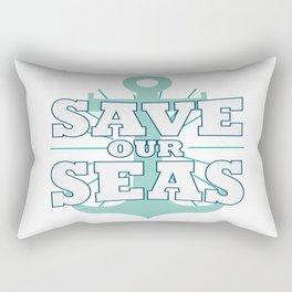 Save Seas Ocean Planet Earth Day Enviroment Gift Rectangular Pillow