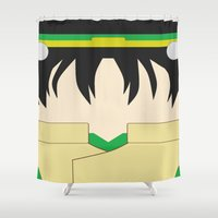 airbender Shower Curtains featuring Toph by Lindsay Isenhour