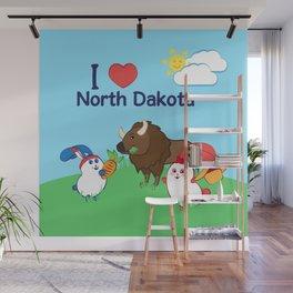 Ernest and Coraline | I love North Dakota Wall Mural
