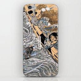 Kuniyoshi Utagawa, The ghost of Taira Tomomori, Daimotsu bay iPhone Skin
